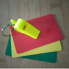 Referee Cards with Whistle